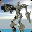 机器人飞机只能一往无前的战斗